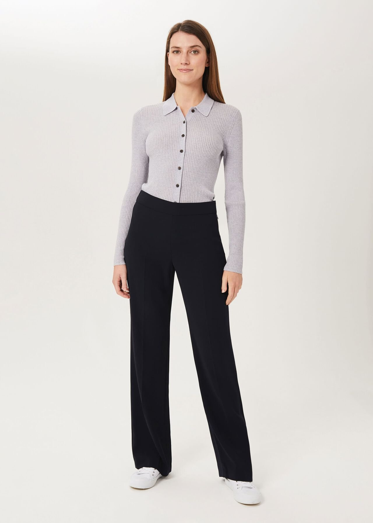 Maya Wide trousers, Navy, hi-res