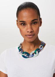 Joy Resin Necklace, Blue Multi, hi-res