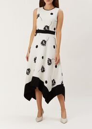 Lucie Dress, Ivory Black, hi-res