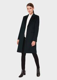 Tilda Wool Collar Coat, Fern Green, hi-res