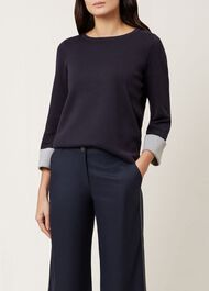 Laura Sweater, Navy, hi-res