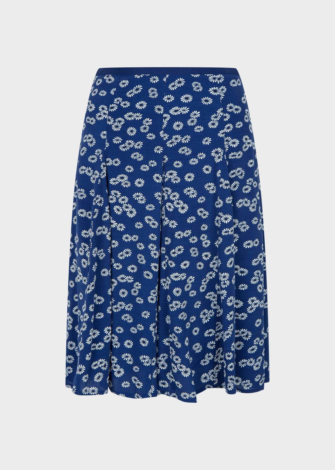 Inez Floral Skirt French Blue Iv