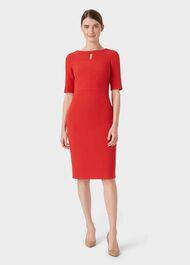 Maura Dress, Red, hi-res