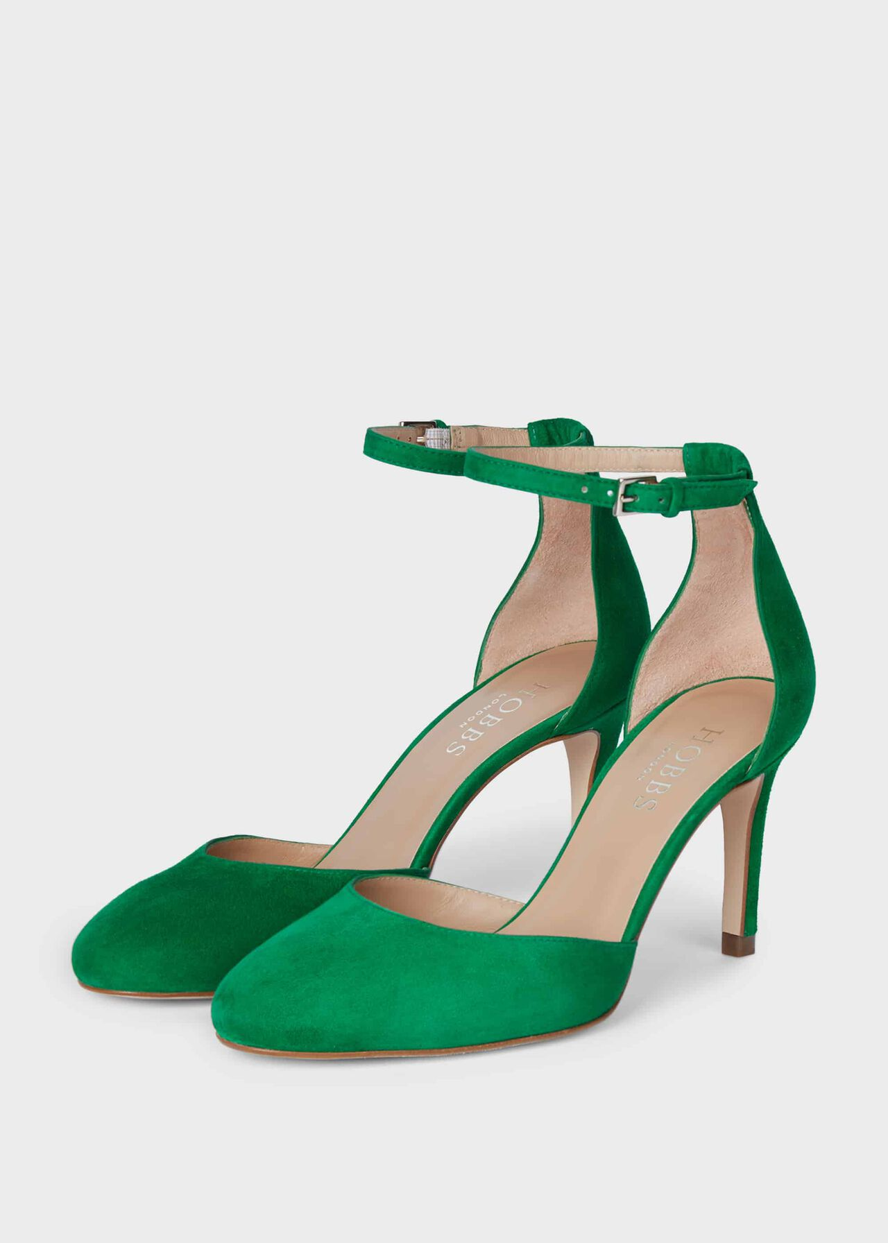 Elliya Suede Court Shoes Green