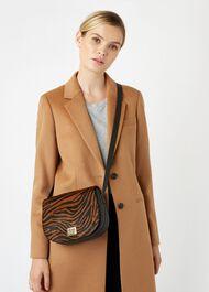 Oxford Saddle Bag, Zebra, hi-res