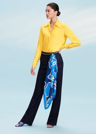 Silk Eva Shirt, Yellow, hi-res