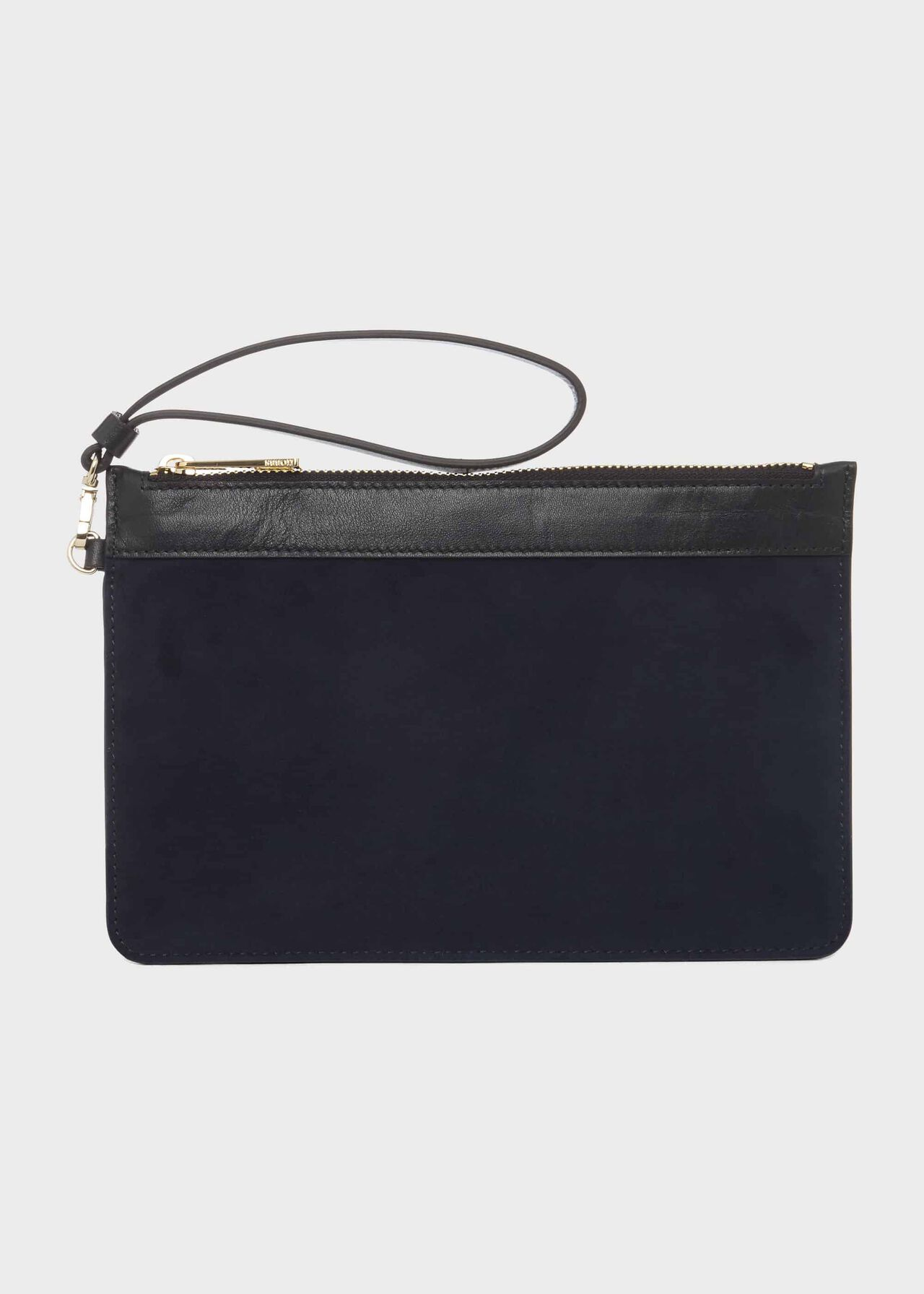 Lundy Suede Wristlet, Midnight, hi-res