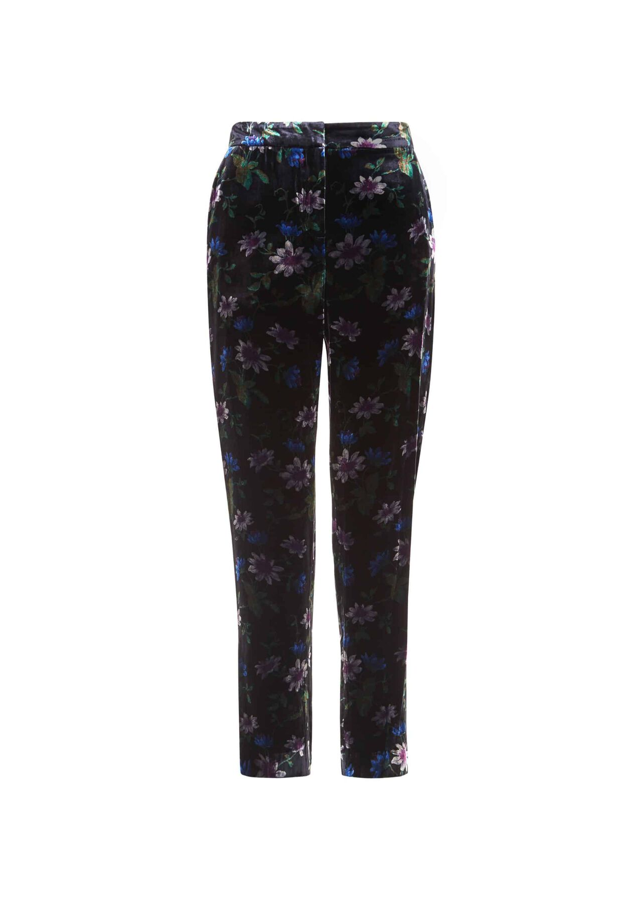 Passionflower Velvet Trousers Black Multi