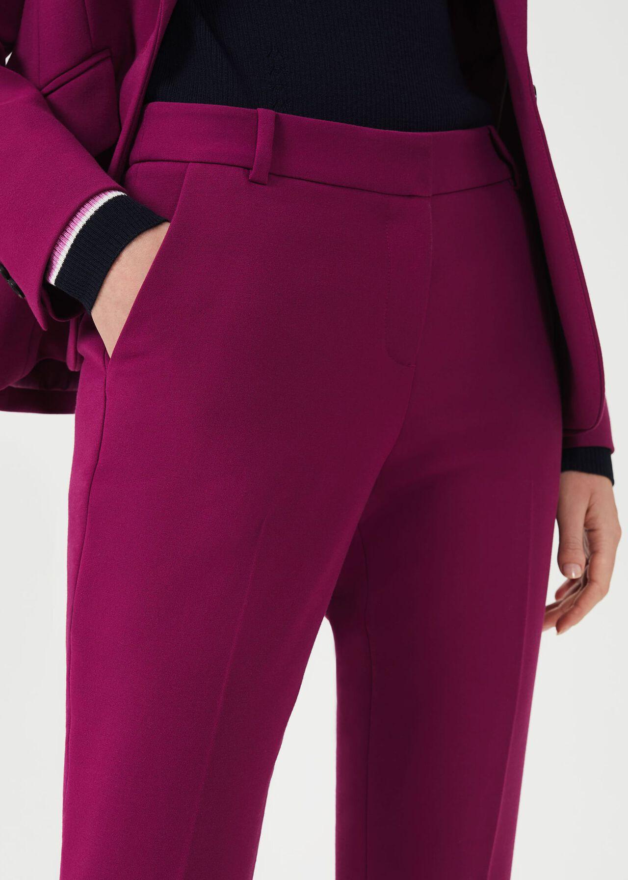 Suki Slim Trouser With Stretch, Magenta, hi-res