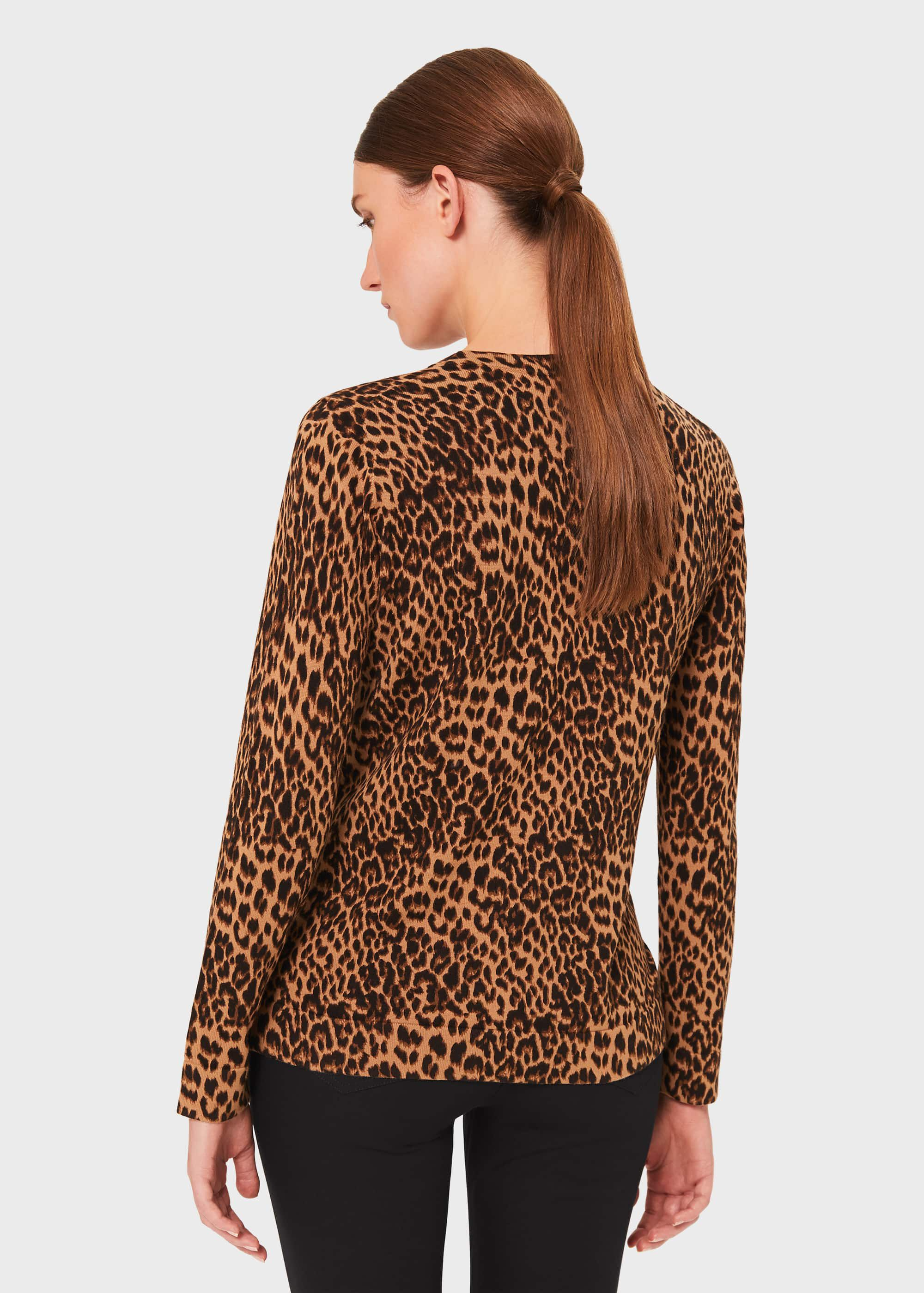 Pamela Cotton Animal Print Sweater