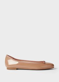Flo Patent Ballerinas, Toasted Almond, hi-res