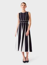 Grace Dress, Navy Ivory, hi-res