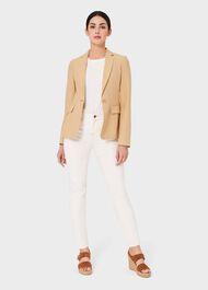 Trent Silk Linen Jacket, Neutral, hi-res