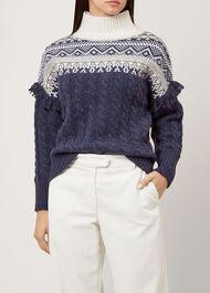 Cleo Sweater, Navy Multi, hi-res