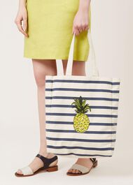 Pineapple Canvas Bag, White, hi-res