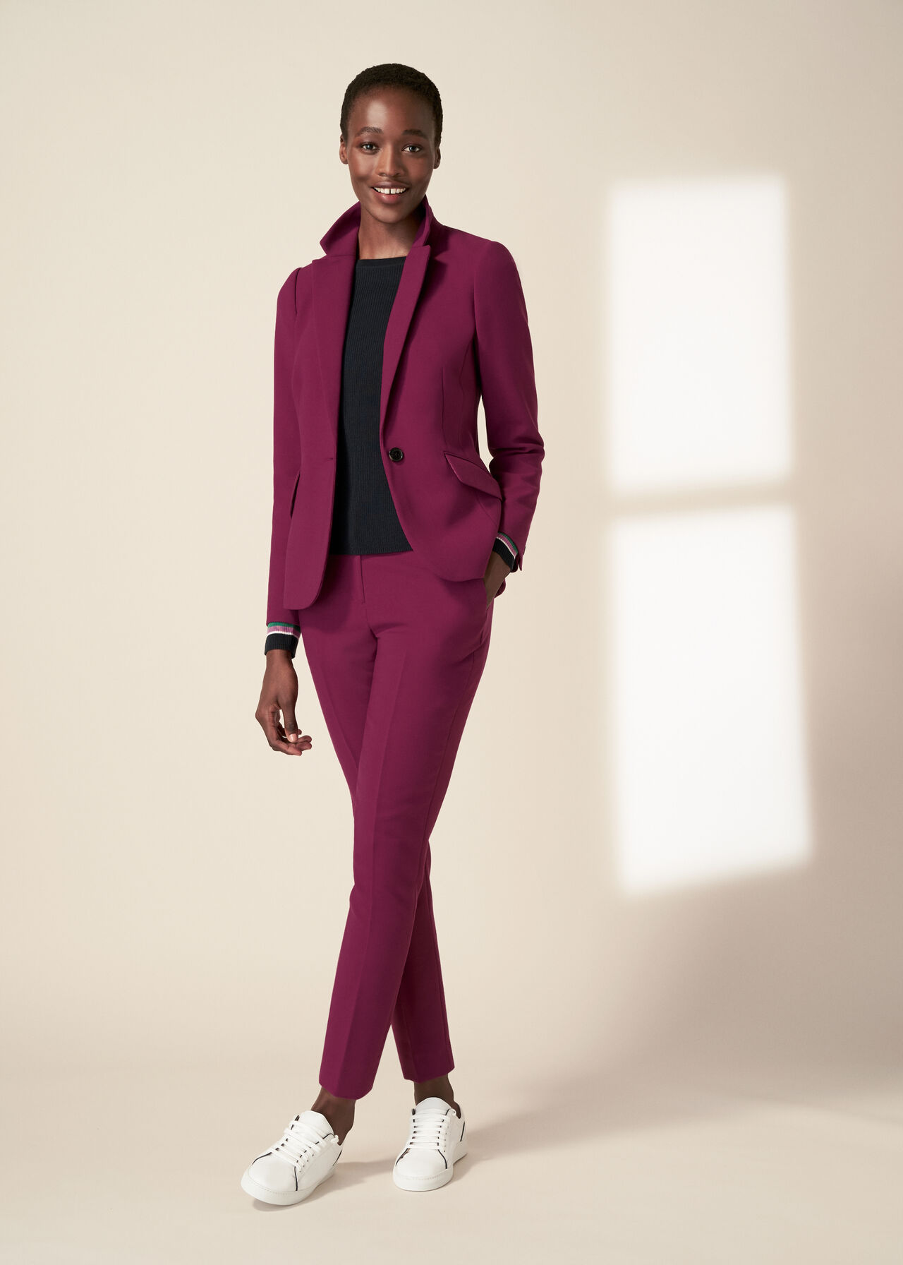 The Magenta Suki Trousers Suit Outfit, , hi-res