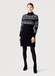 Bexley Knitted Dress, Navy Multi, hi-res