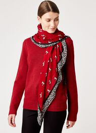 Dalmatian Scarf, Red, hi-res