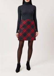 Elea Wool Skirt, Red Charcoal, hi-res