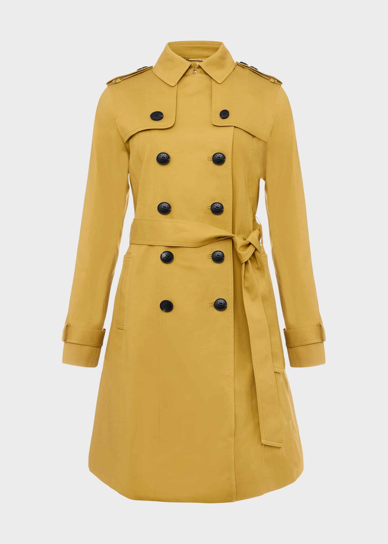 Saskia Water Resistant Trench Coat Chartreuse