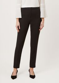 Tapered Mina trousers, Black, hi-res