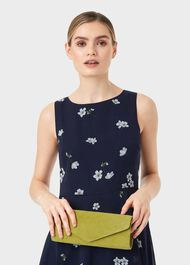 Evie Clutch Bag, Leaf Green, hi-res