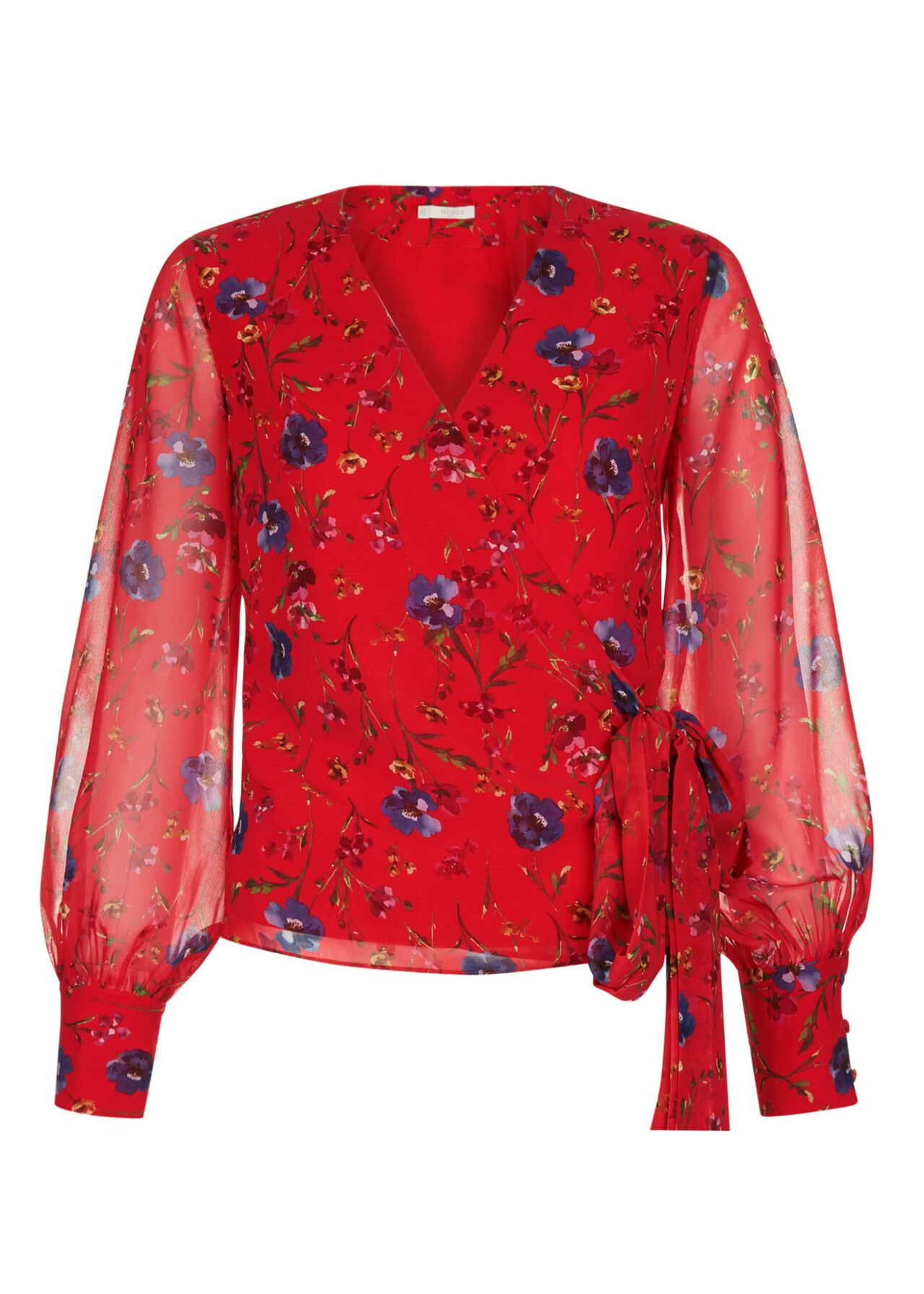Elizabeth Blouse Red Multi