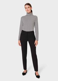 Mischa Printed Roll Neck Top, Ivory Black, hi-res
