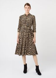 Petite Lainey Dress, Black Camel, hi-res