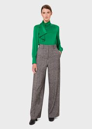 Elsa Blouse With Silk, Emerald Green, hi-res