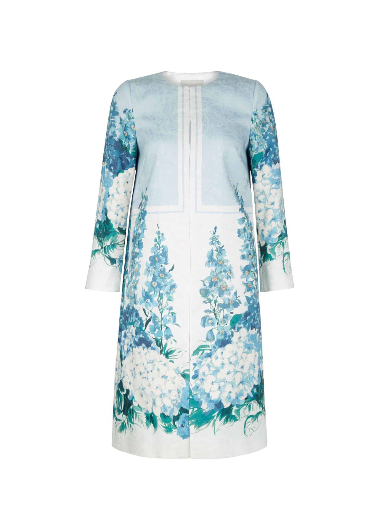Hydrangea Coat Blue Multi