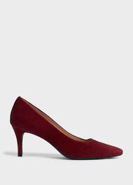 Amy Suede Stiletto Court Shoes, Merlot, hi-res