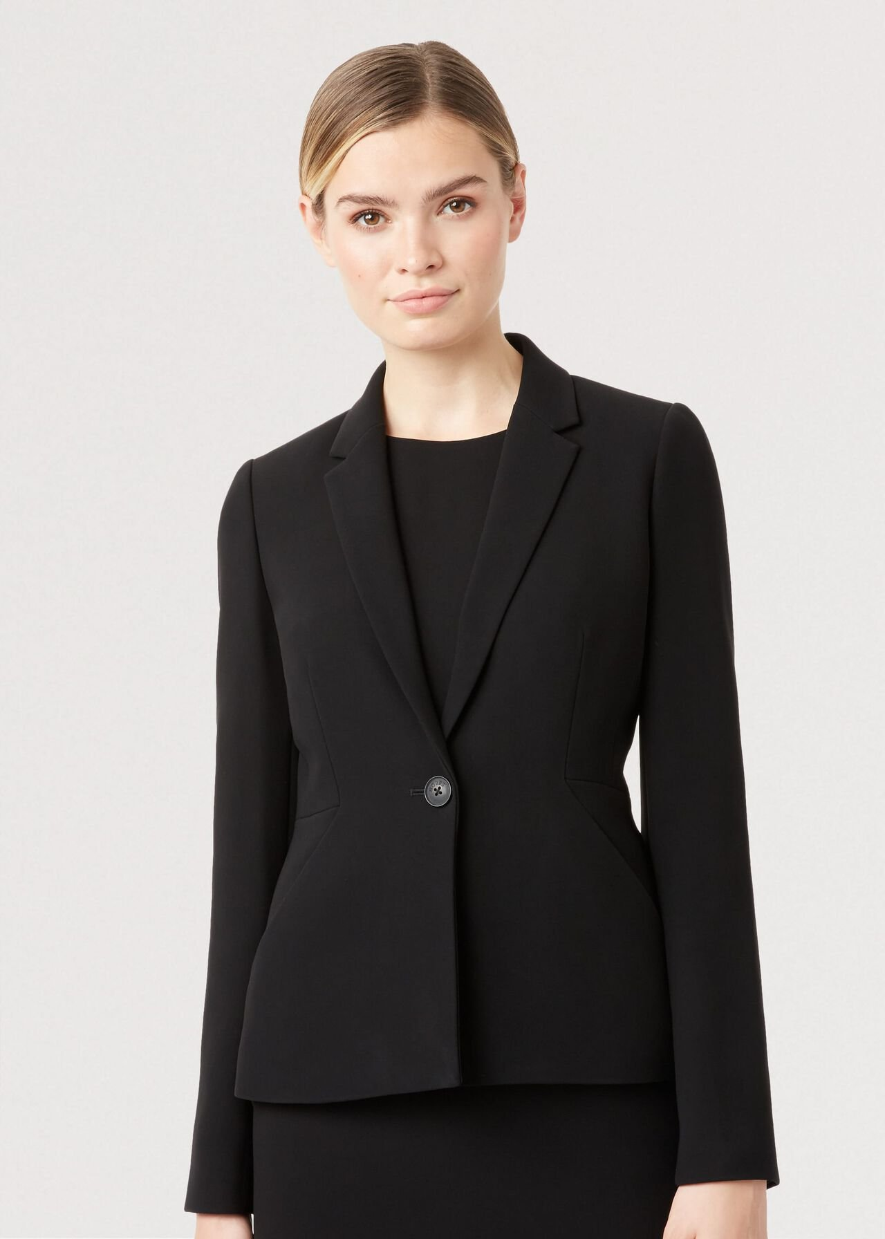 Petite Alva Jacket, Black, hi-res