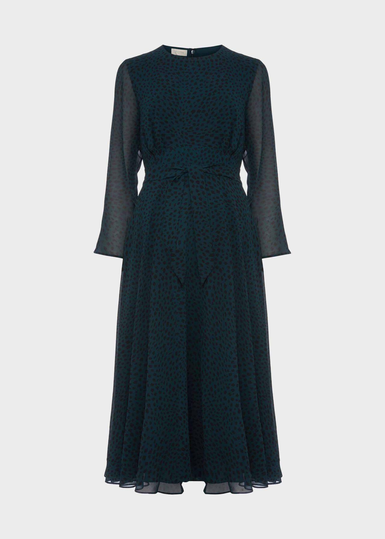 Mimi Printed Dress Pine Green