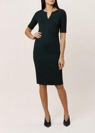 Cheryl Dress, Dk Forest Green, hi-res