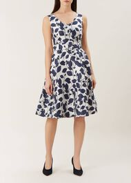 Grace Dress, Ivory Midnight, hi-res