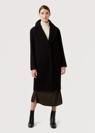 Jane Wool Blend Coat, Black, hi-res