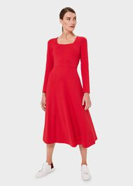 Marina Jersey Dress, Raspberry, hi-res
