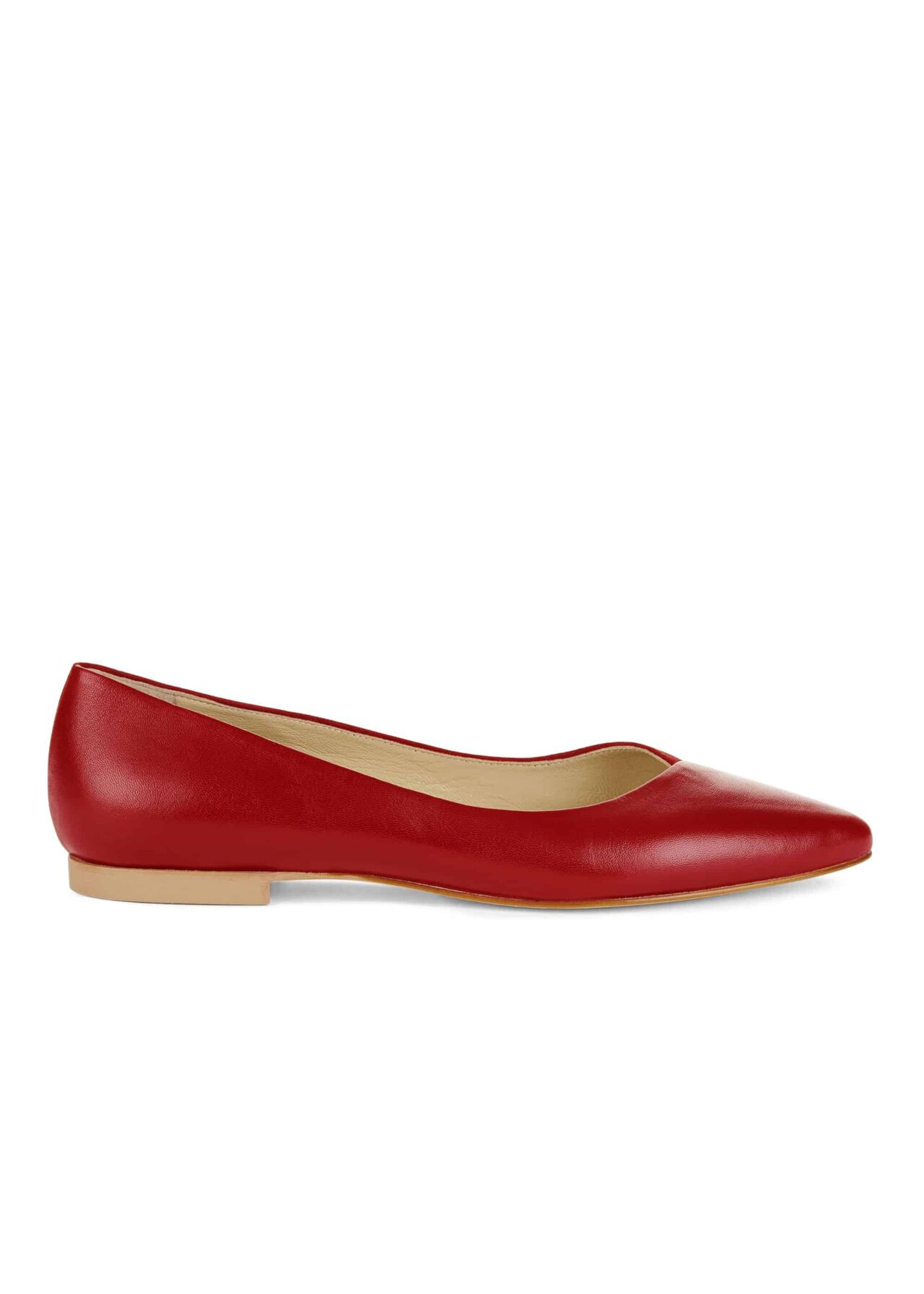 Emily Flat Scarlet Red