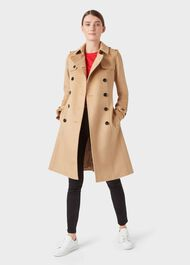 Wool Saskia Trench Coat, Camel, hi-res