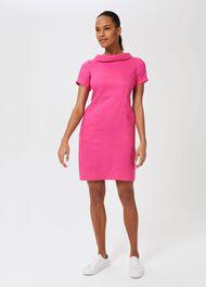Petra Linen Dress, Pink, hi-res
