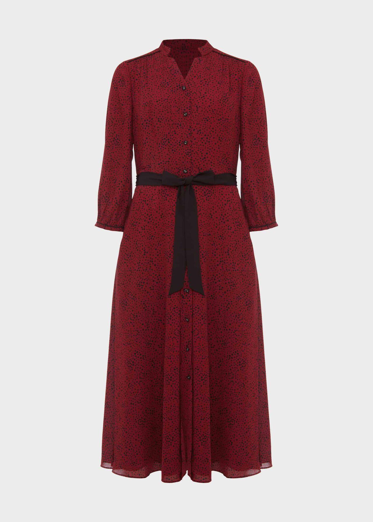 Cece Crepe Shirt Dress Merlot Black