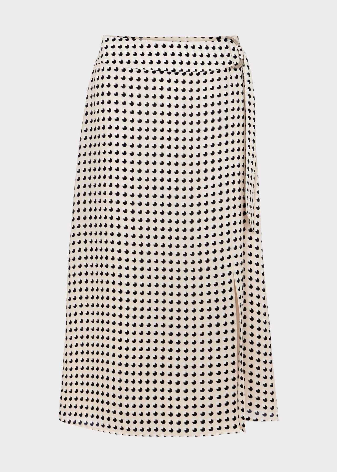 Joelle Midi Skirt Natural Multi