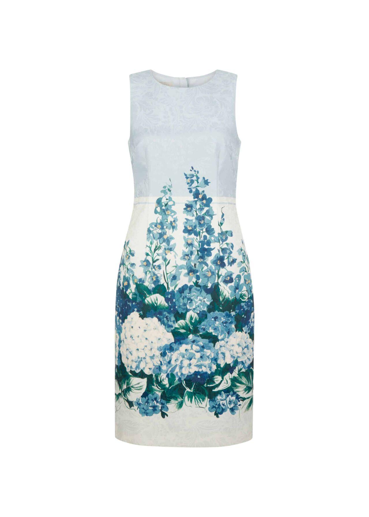 Hydrangea Shift Dress Blue Multi