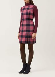 Avery Wool Dress, Pink Multi, hi-res