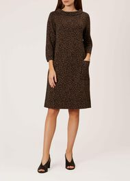 Rosalyn Dress, Black Camel, hi-res
