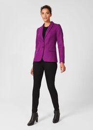 Jessica Wool Jacket, Purple, hi-res