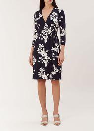 Delilah Wrap Dress, Navy Multi, hi-res