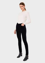 Marianne Velvet Skinny Jeans With Stretch, Midnight, hi-res