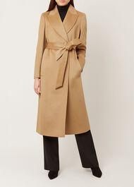 Olivia Wool Coat, Camel, hi-res